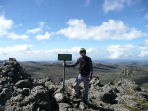 On Wagagai summit at 4321m.