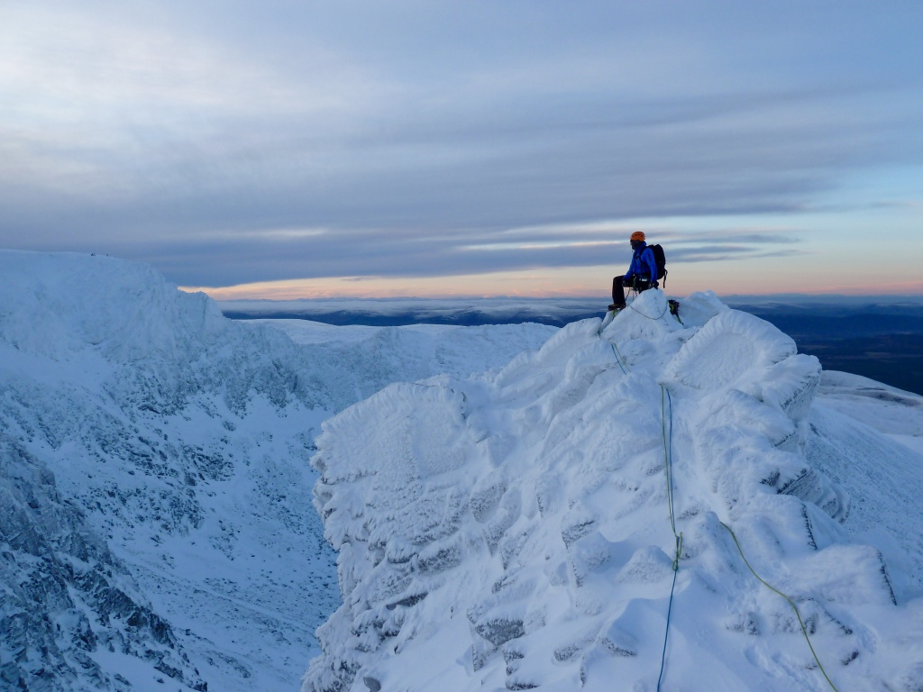 Ben sorting out the ropes on top of the last pitch of Pygmy Ridge. Pretty epic day coming to an end.
