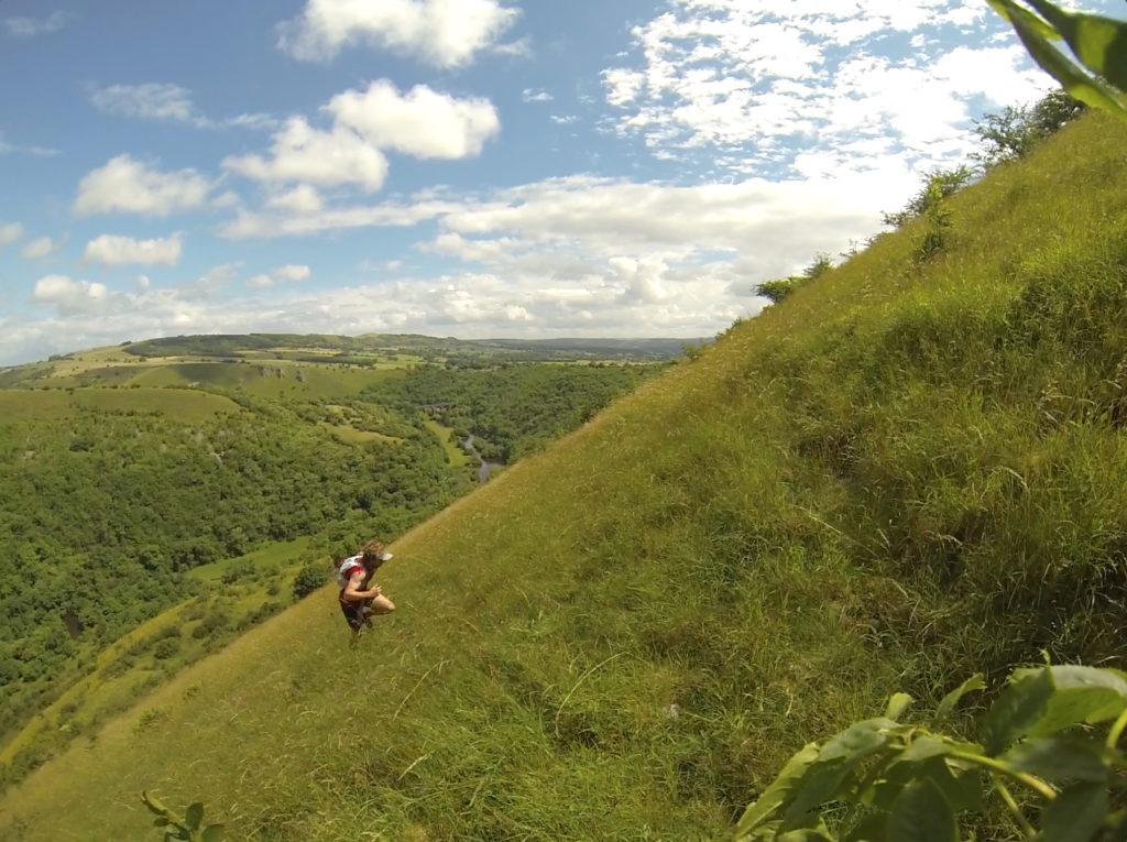Pretty steep hill to run up.