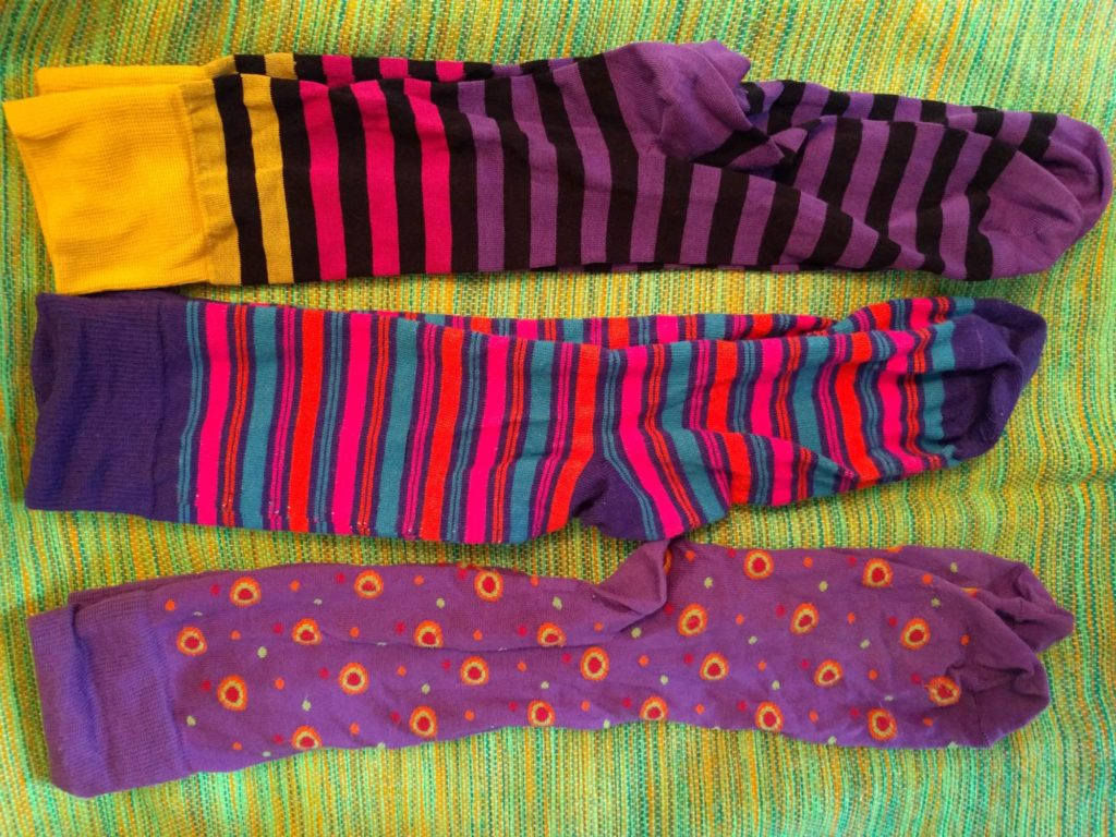 Some of the HJ Generation V socks. Funky colours, quirky patterns.