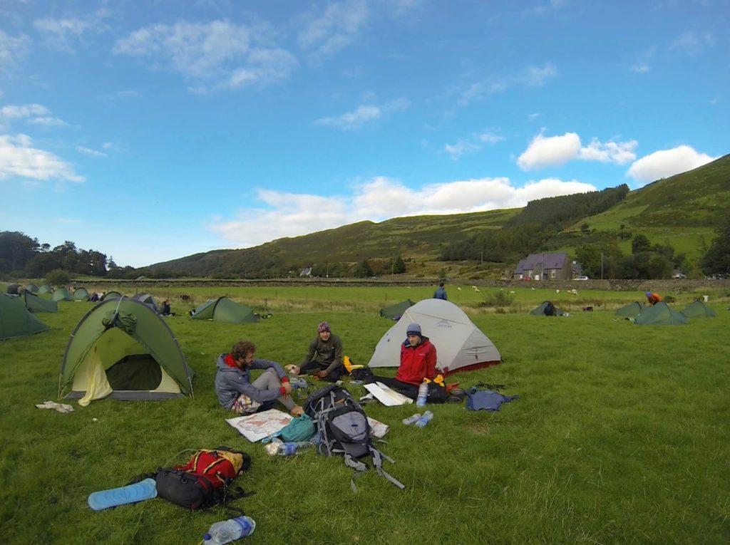 The overnight camp.