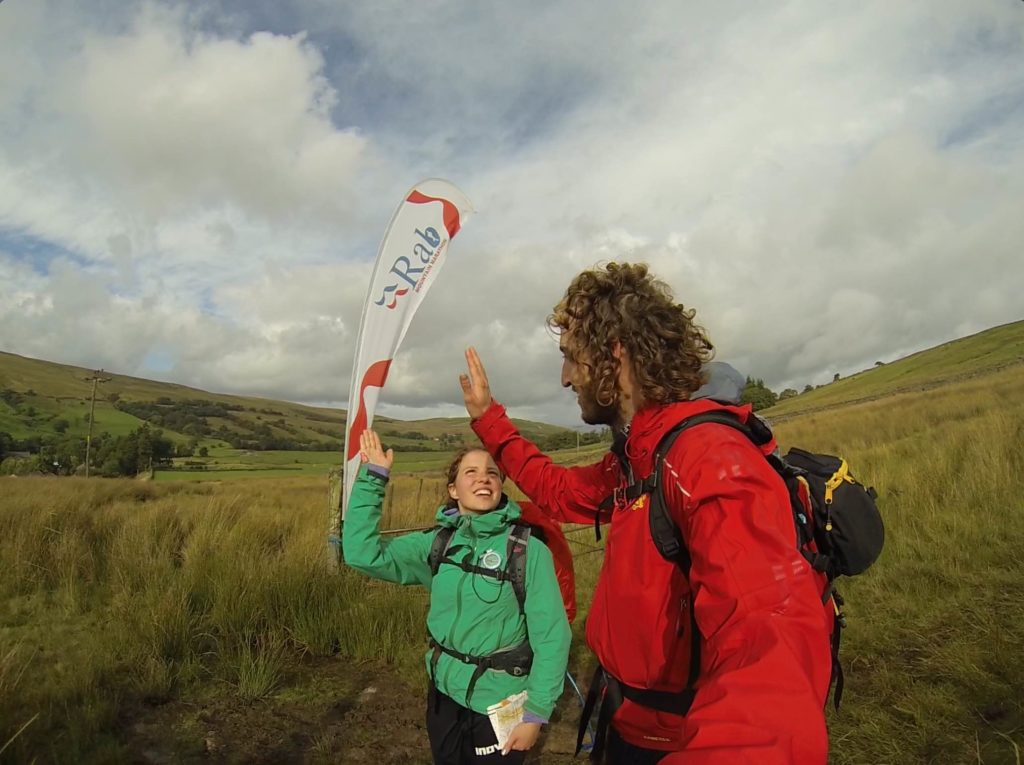 You might be able to tell that we crossed the finish line at a more leisurely pace on day two...