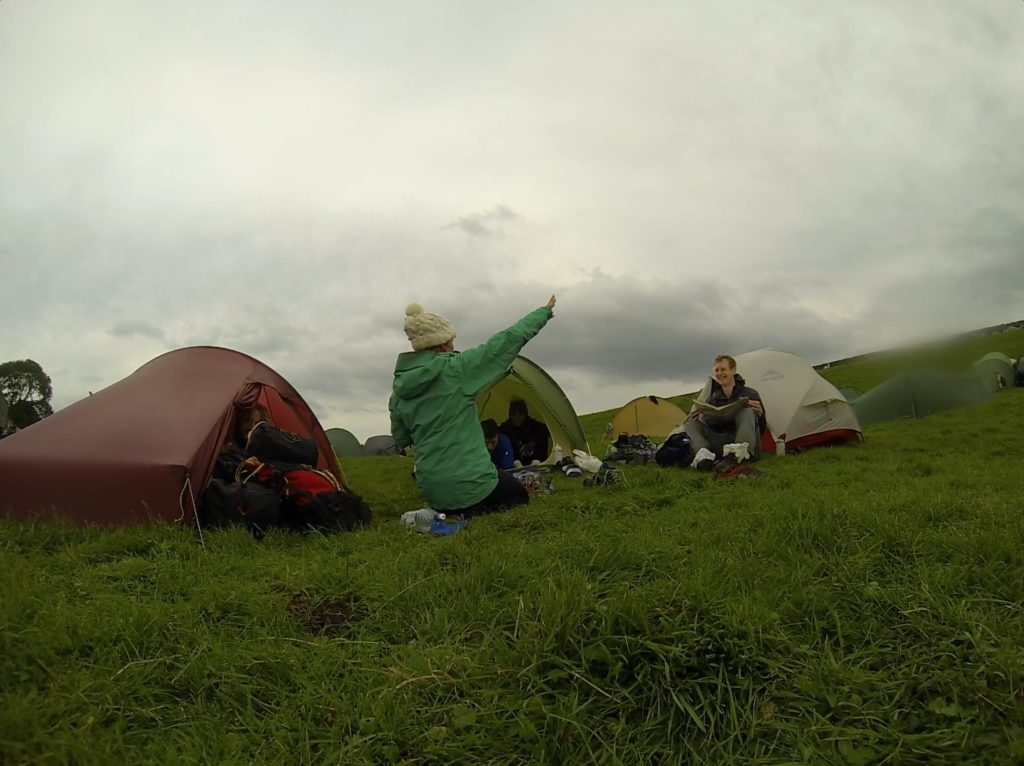 Janneke entertaining the camp whilst I went for a quick nap (maybe I was more exhausted after all)...