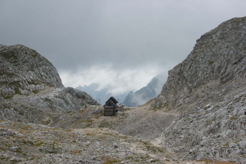 The hut for the third night (Koča na Doliču)