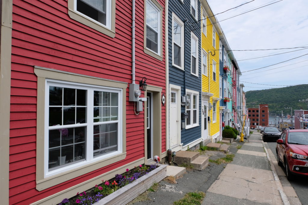 The beautiful coloured houses of St Johns