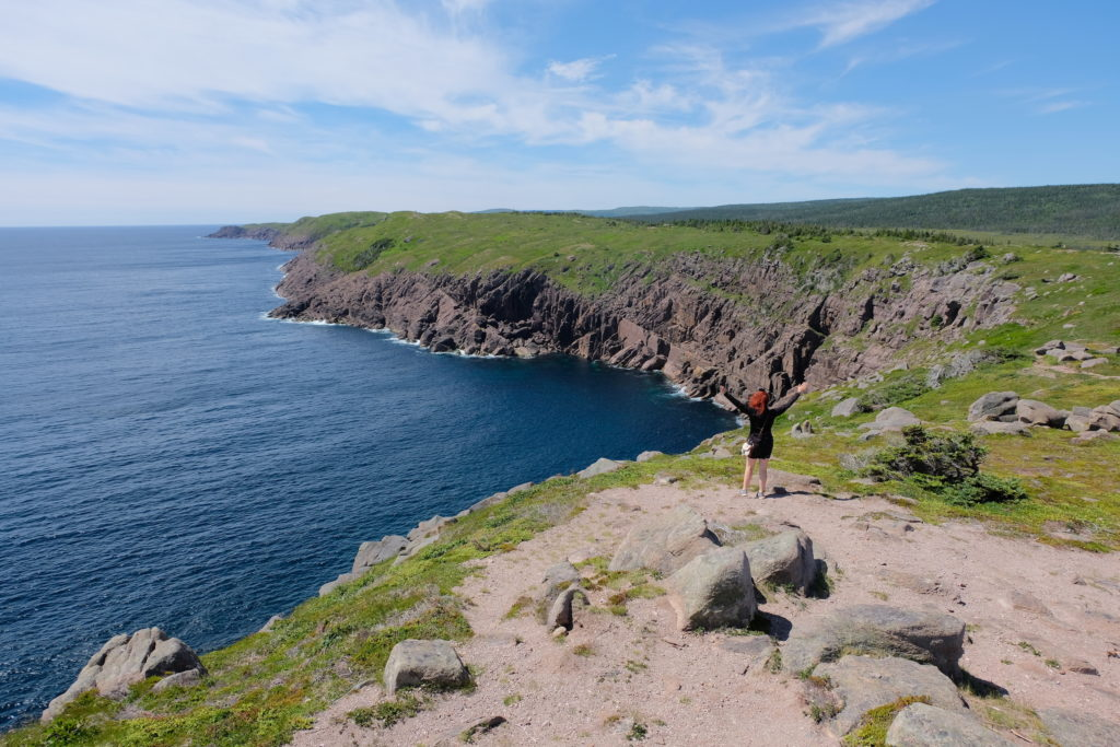 The rugged coastline of Cape Spear