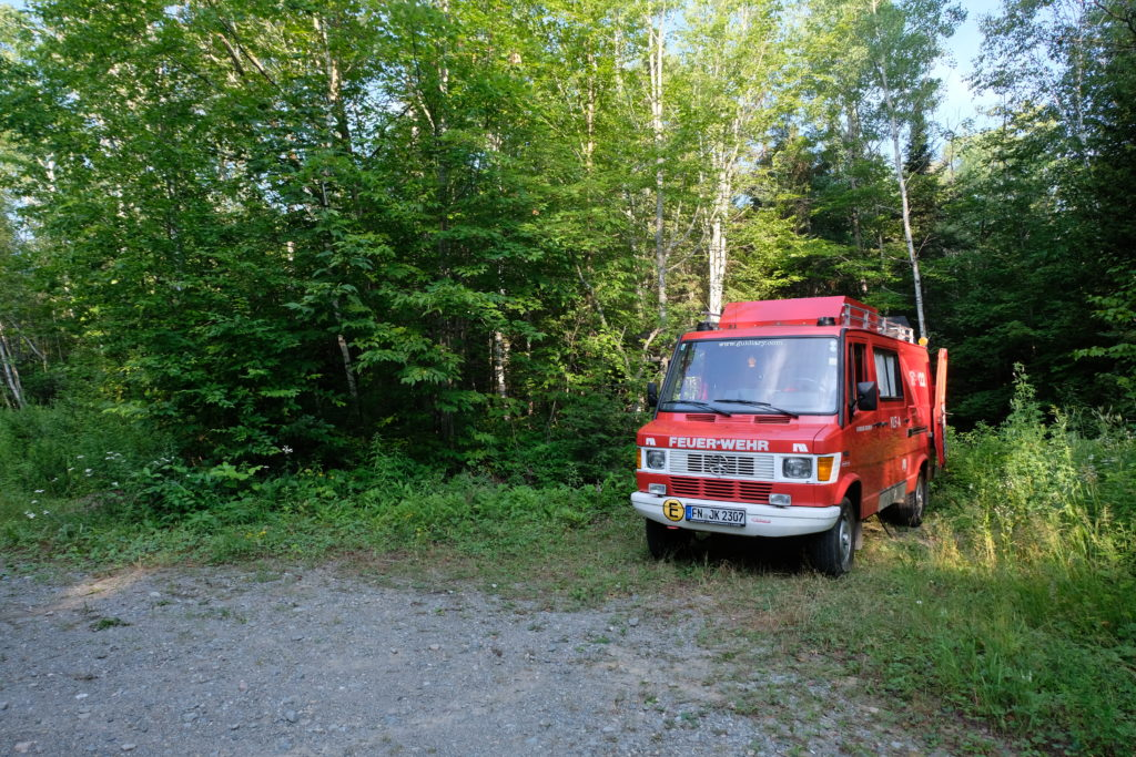 Parked up in the middle of the forest