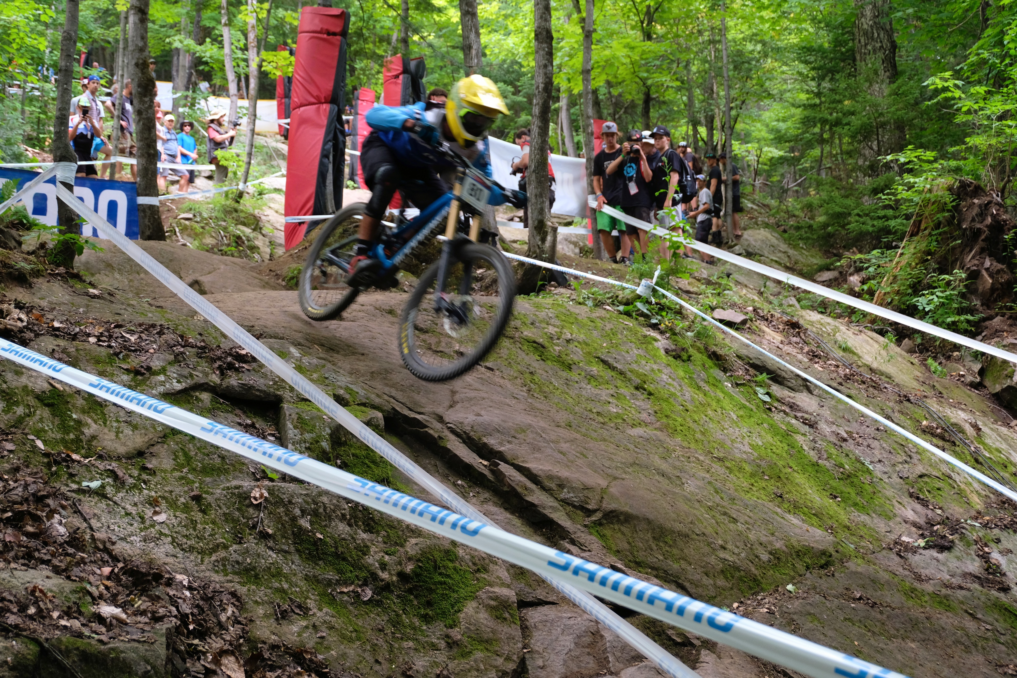 The speed with which the riders raced through the rock gardens was incredible to witness...