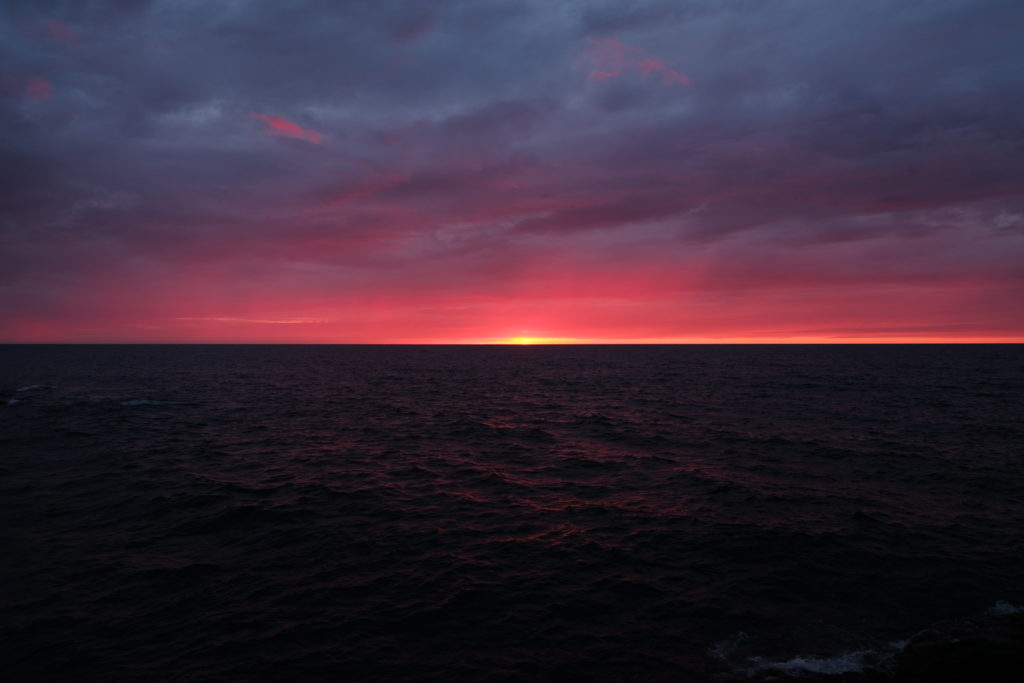 Sunset over Lake Superior - before the storm came!