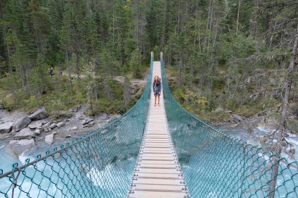 Crossing cool bridges on the Berg Lake trail