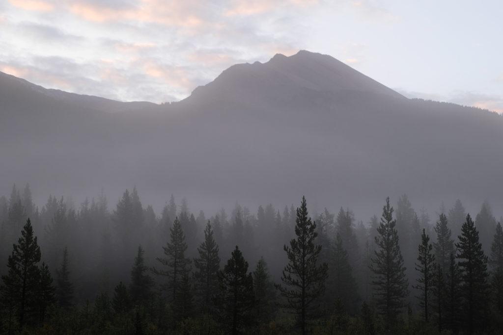 Beautiful hazy morning