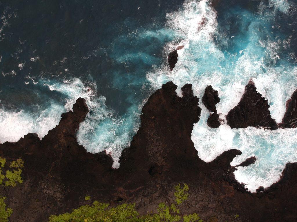 The beautiful coast of Maui